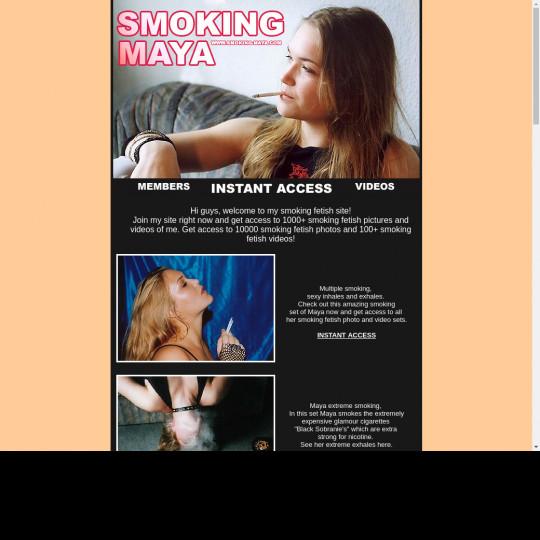 smoking maya